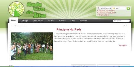 Site Rede Viva da Ilha